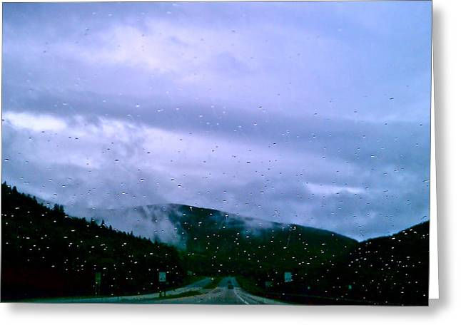 Power Pyrography Greeting Cards - Rainy Night in New Hampshire Greeting Card by Gloria Warren