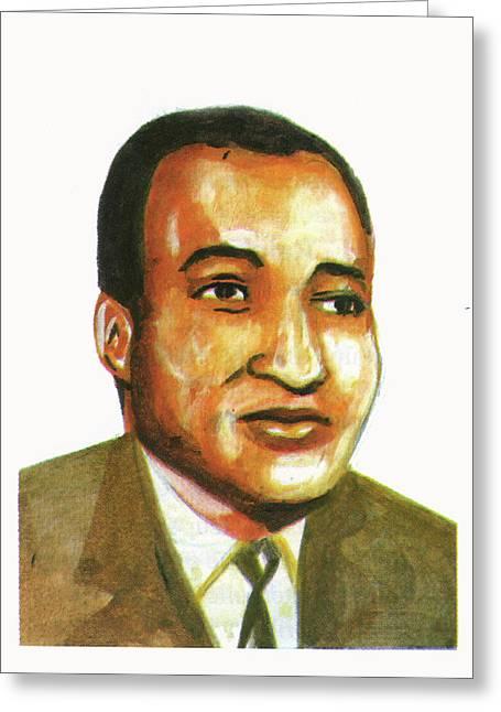 Ralph Bunche Greeting Card by Emmanuel Baliyanga