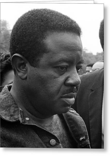 Poor People Greeting Cards - Ralph David Abernathy Greeting Card by Wayne Higgs