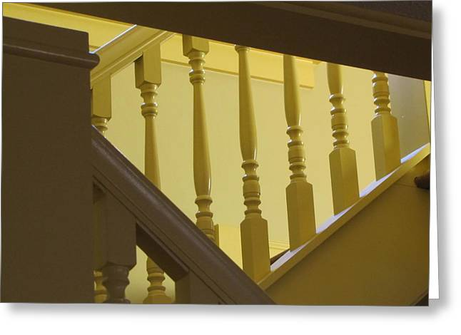 A Christmas Story Greeting Cards - Ralphies Staircase II Greeting Card by Kelly Mezzapelle