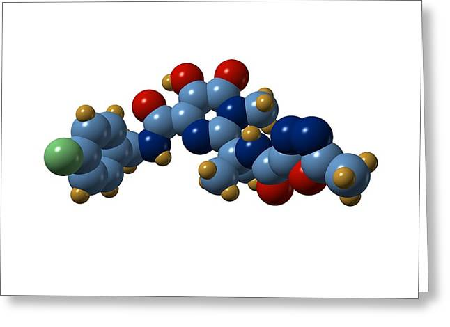 Transfer Greeting Cards - Raltegravir Hiv Drug Molecule Greeting Card by Dr Mark J. Winter