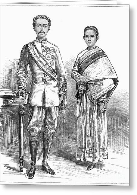Queen Consort Greeting Cards - Rama V (1853-1910) Greeting Card by Granger