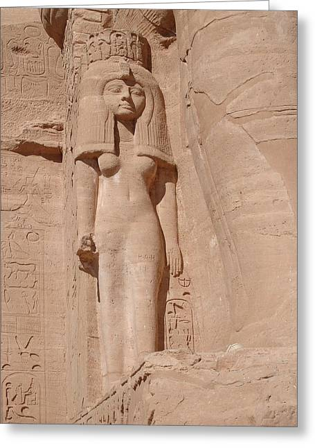 Hathor Greeting Cards - Ramesside Princess Greeting Card by Richard Deurer