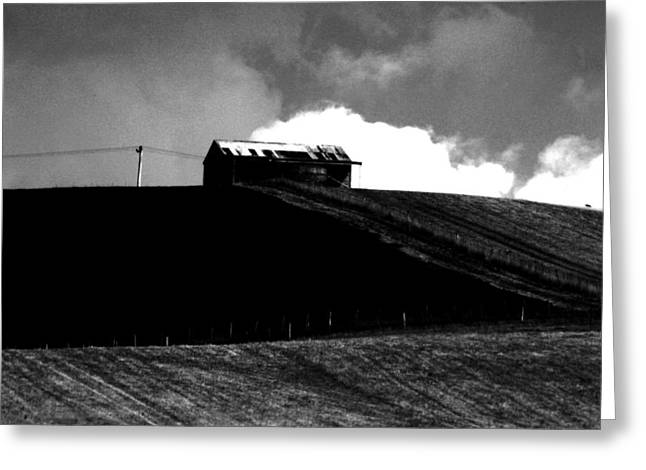 Ranch Building And Clouds Greeting Card by Noel Elliot