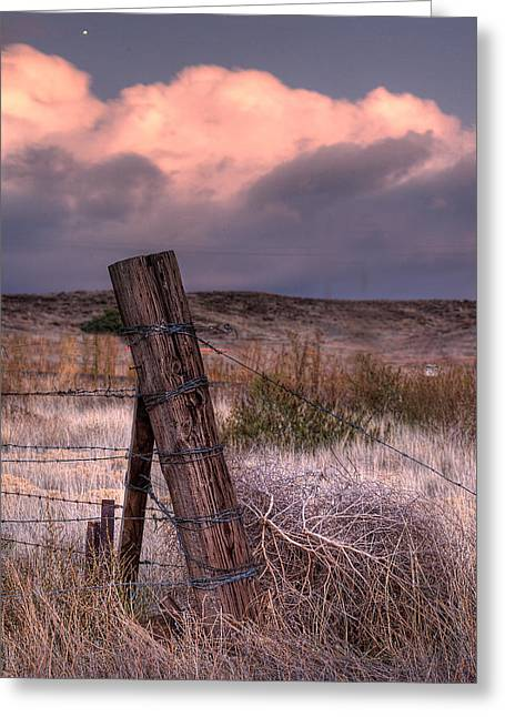 Fence Posts Greeting Cards - Ranch Fence Post Greeting Card by Peter Tellone