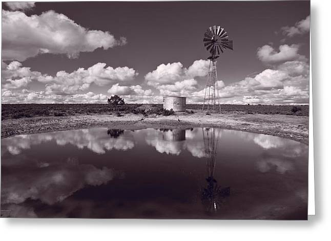 Chaco Greeting Cards - Ranch Pond New Mexico Greeting Card by Steve Gadomski