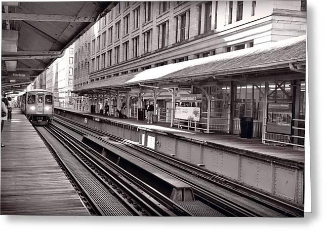 Chicago Loop Greeting Cards - Randolph Street Station Chicago Greeting Card by Steve Gadomski