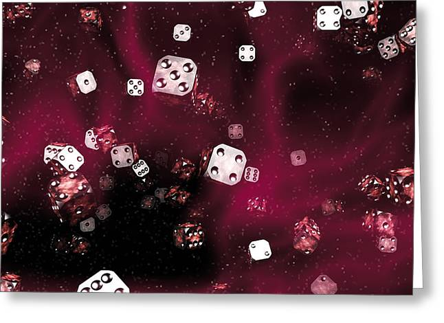 Statistical Greeting Cards - Random Universe Greeting Card by Christian Darkin