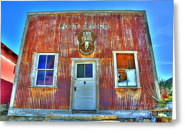 Historical Buildings Greeting Cards - Randsburg Post Office Greeting Card by Bob Christopher