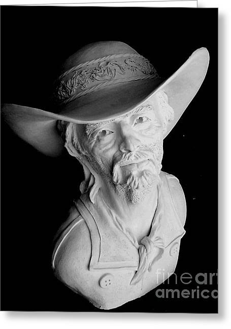 Bust Sculptures Greeting Cards - Range Rider Greeting Card by Wayne Niemi