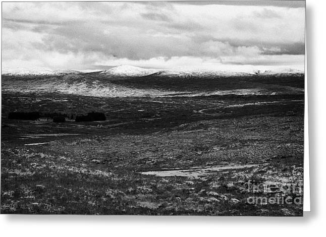 Rannoch Moor Greeting Cards - Rannoch Moor And A82 Road In The Highlands Scotland Greeting Card by Joe Fox