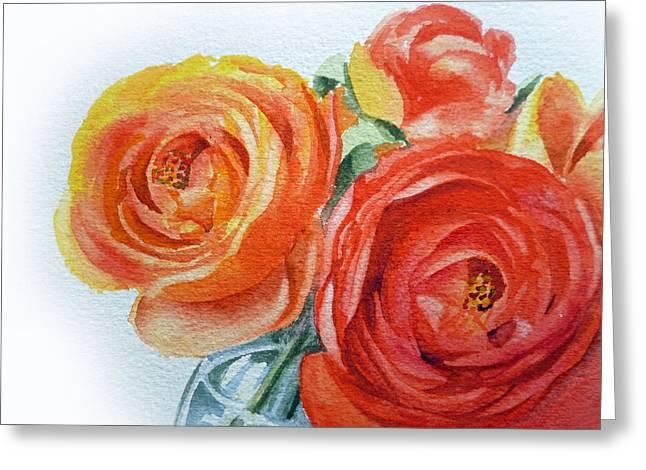 Ranunculus Greeting Cards - Ranunculus Greeting Card by Irina Sztukowski