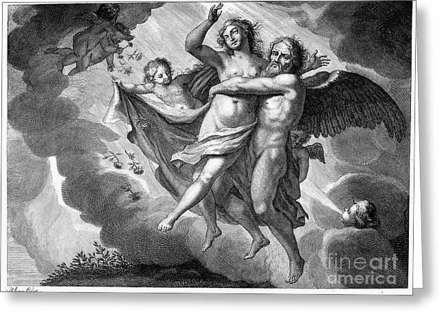 Boreas Greeting Cards - Rape Of Orithyia Greeting Card by Granger