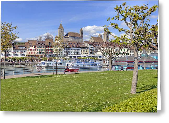 Sycamore Greeting Cards - Rapperswil Greeting Card by Joana Kruse