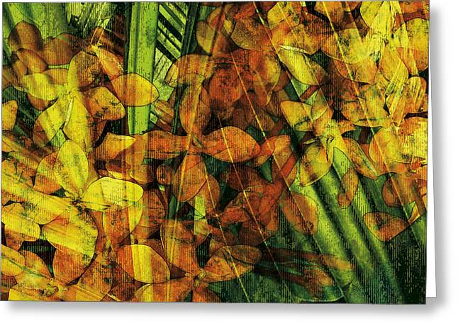 Compositions Mixed Media Greeting Cards - Rapture Greeting Card by Kaypee Soh - Printscapes