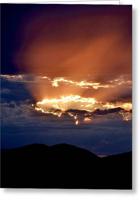 Sunset Posters Greeting Cards - Rapture Greeting Card by Kevin Bone