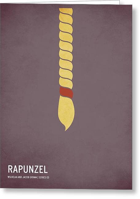 Greeting Cards - Rapunzel Greeting Card by Christian Jackson