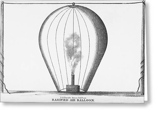 Inflation Greeting Cards - Rarified Air Balloon Greeting Card by Science, Industry & Business Librarynew York Public Library