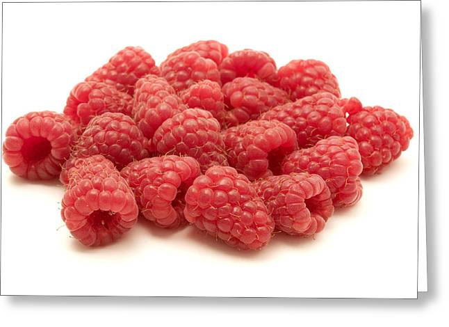 Cut-outs Greeting Cards - Raspberries Greeting Card by Fabrizio Troiani