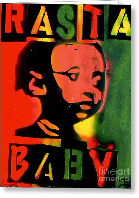 First Amendment Greeting Cards - Rasta Baby Greeting Card by Tony B Conscious