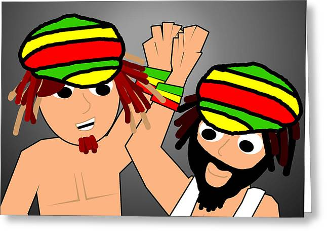 Rasta Greeting Cards - Rasta Buds Greeting Card by Jera Sky