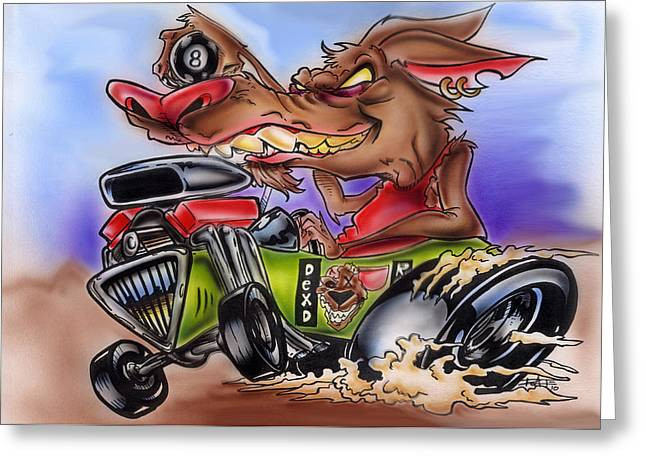 Iroatethis Drawings Greeting Cards - Rat Mobile Greeting Card by Big Mike Roate