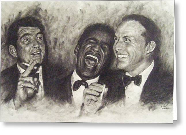 Sand Drawings Greeting Cards - Rat Pack Greeting Card by Cynthia Campbell