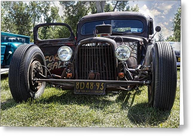 Rusted Cars Greeting Cards - Rat Rod Greeting Card by Peter Chilelli