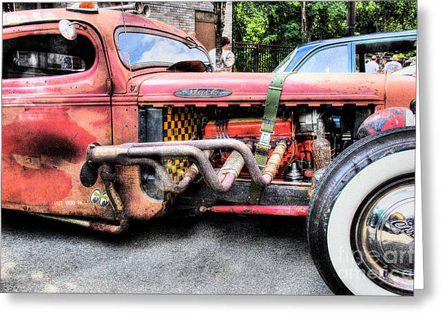 Old Trucks Greeting Cards - Ratrod Rust Greeting Card by Tony  Bazidlo