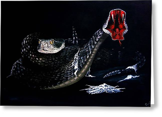 Whitesnake Greeting Cards - Rattlesnakes Greeting Card by Penny Golledge