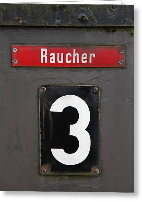 Zug Greeting Cards - Raucher Greeting Card by Falko Follert