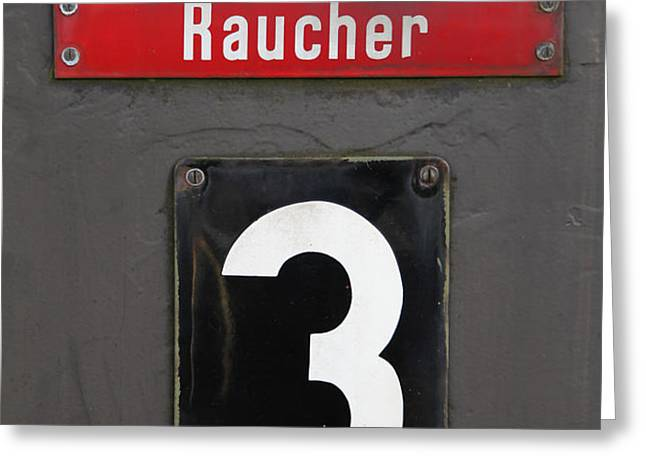 Raucher Greeting Card by Falko Follert
