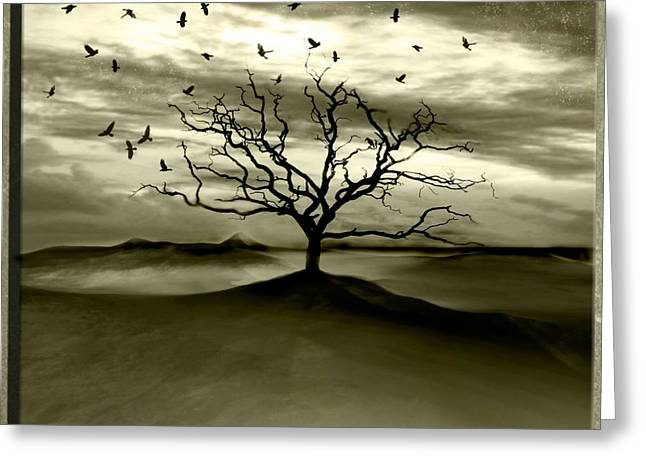 Raven Valley Greeting Card by Photodream Art