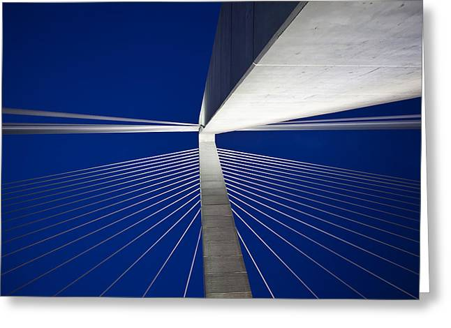 Donny Greeting Cards - Ravenel Overhead Night - Horizontal Greeting Card by Donni Mac