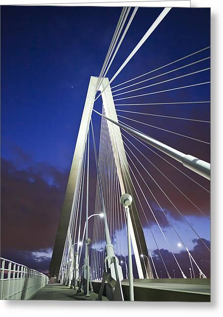 Donny Greeting Cards - Ravenel Tower Greeting Card by Donni Mac