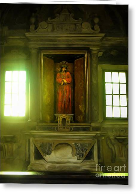 Gregory Dyer Greeting Cards - Ravenna Italy - Sant Apollinare Nuovo - Jesus Christ Greeting Card by Gregory Dyer