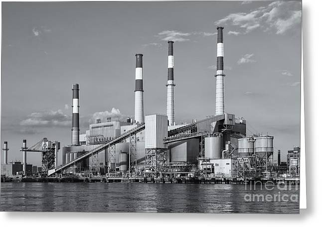Power Plants Greeting Cards - Ravenswood Generating Station II Greeting Card by Clarence Holmes
