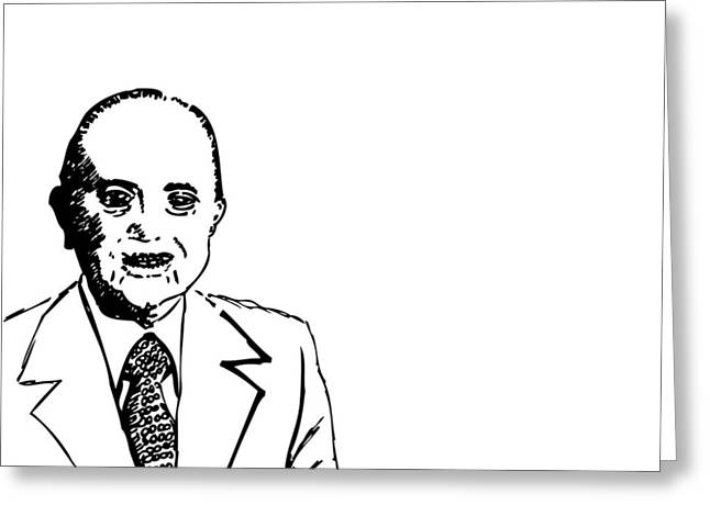 Fast Food Drawings Greeting Cards - Ray Kroc Greeting Card by Karl Addison