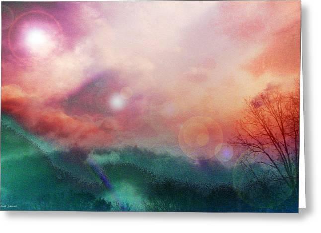 Energy Art Movement Greeting Cards - Ray Of Hope Greeting Card by Linda Sannuti