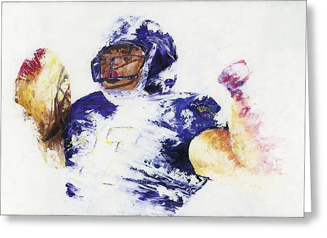 Ray Rice Greeting Card by Ash Hussein