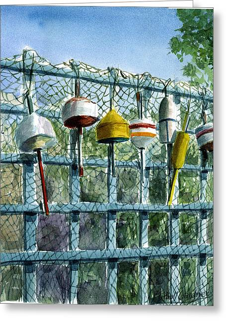Ray's Fence Greeting Card by Paul Gardner