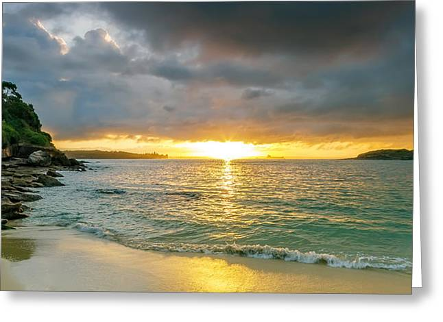 La Perouse Bay Greeting Cards - Rays of Congwong Bay Greeting Card by Mark Lucey