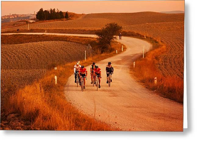 Bicycling Tuscany Greeting Cards - Razza-Italy Greeting Card by John Galbo