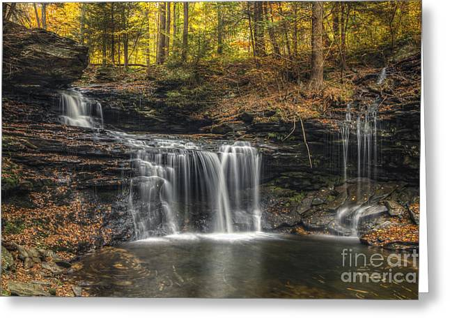 Tonemapping Greeting Cards - R.B. Ricketts Falls closer Greeting Card by Aaron Campbell