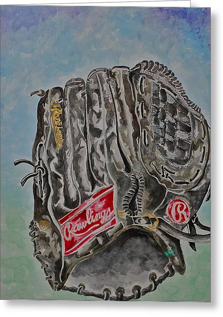 Rawlings Greeting Cards - RBG 36 B Ken Griffey Jr. Greeting Card by Jame Hayes