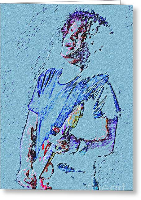 Blues Singer Drawings Greeting Cards - Reach Down Deep Greeting Card by John Travisano