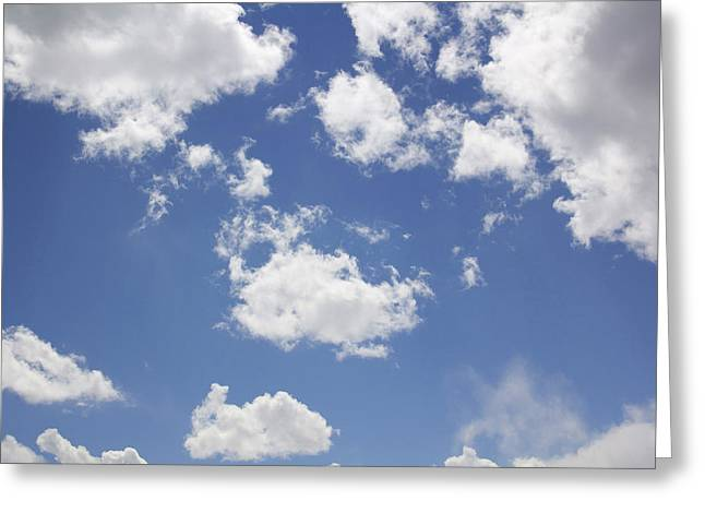 Puffy Clouds Greeting Cards - Reach for the Sky Greeting Card by Mike McGlothlen