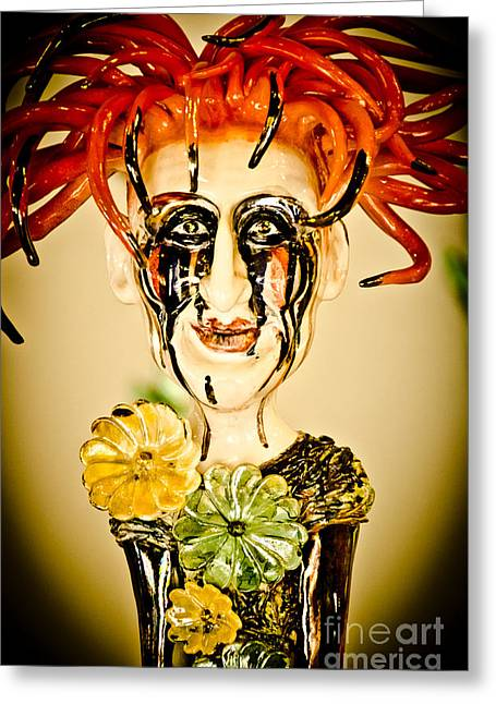 Shiny Glass Art Greeting Cards - readhead beauty of Glass. Greeting Card by Yurix Sardinelly