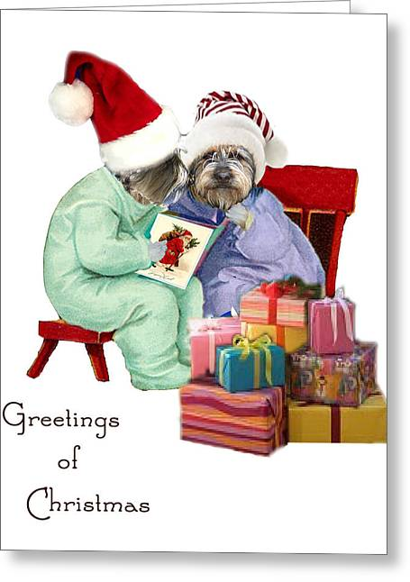 Reading A Christmas Story Greeting Card by Alexandra  Sanders