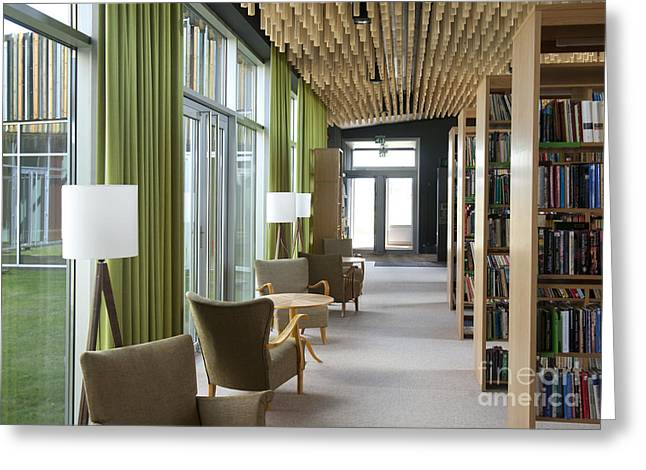 Shelving Greeting Cards - Reading Chairs at a Library Greeting Card by Jaak Nilson